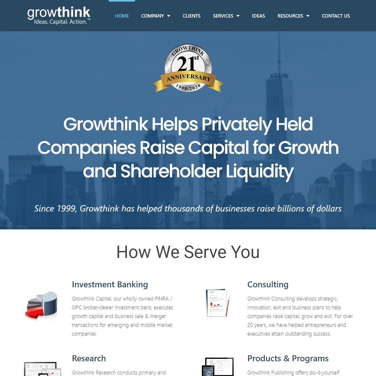 Growthink - Banking - Research - Business Plan Consulting