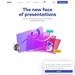 Pitch 一 Collaborative presentation software for modern teams.