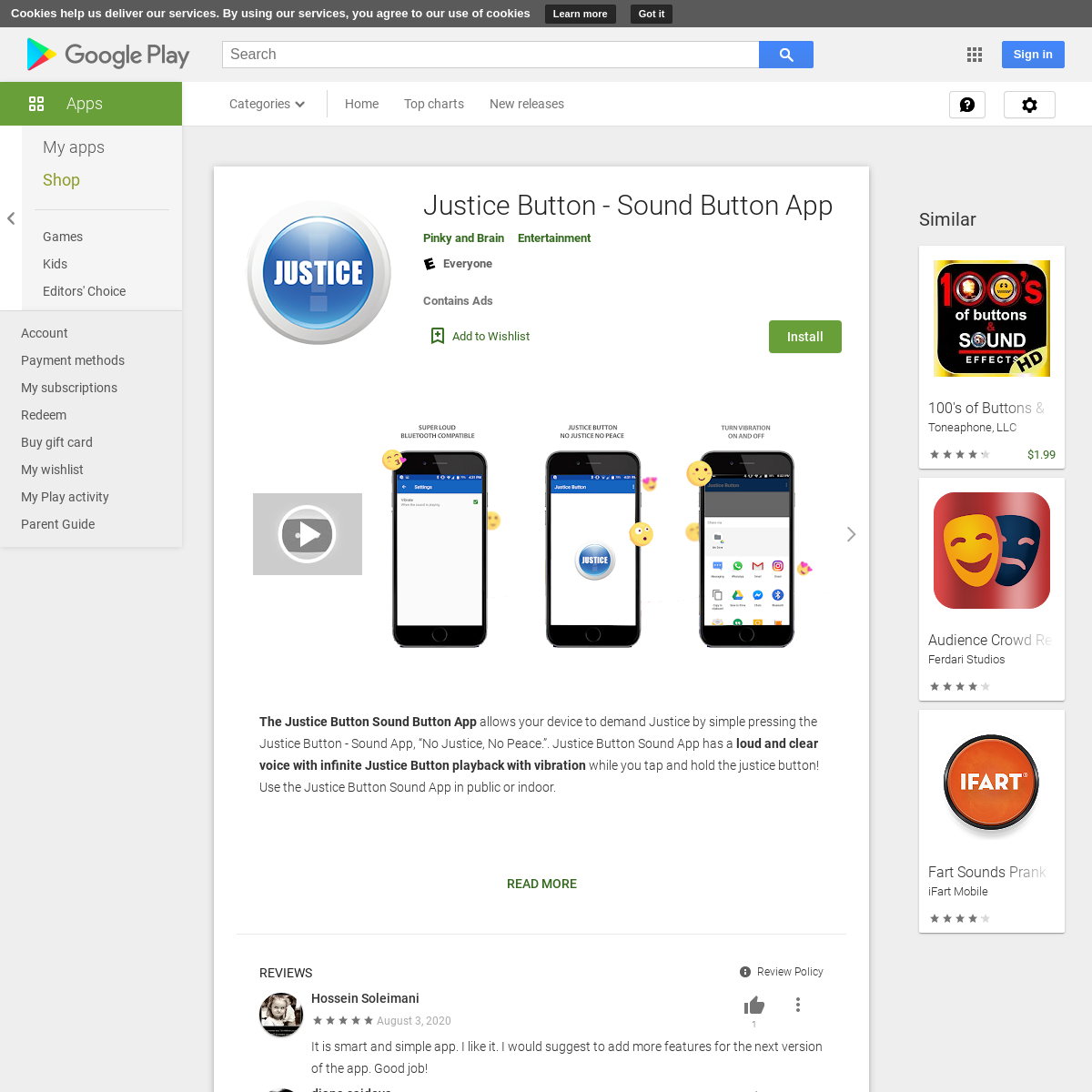Justice Button - Sound Button App - Apps on Google Play