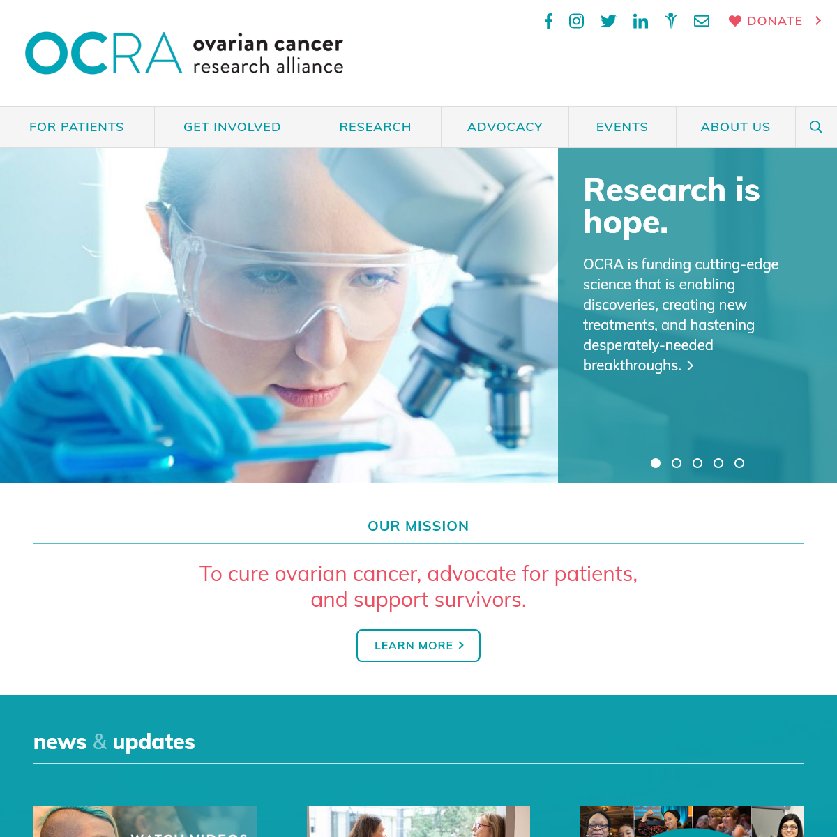 Ovarian Cancer Research Alliance - OCRA