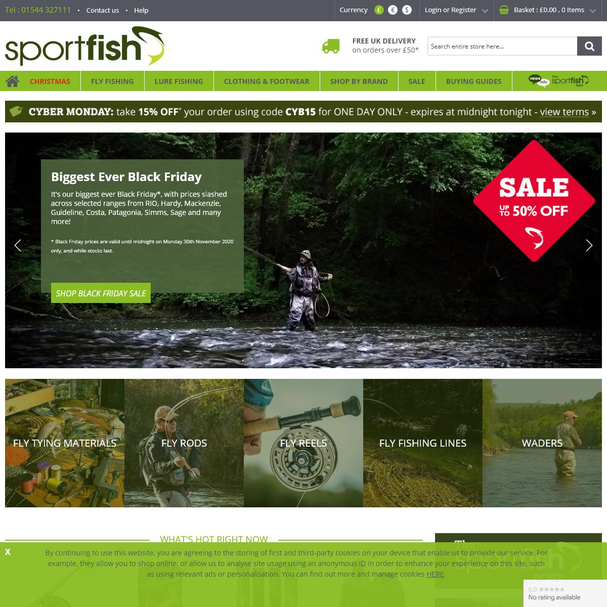 Sportfish - Fishing Tackle, Fishing Clothing & Fishing Equipment