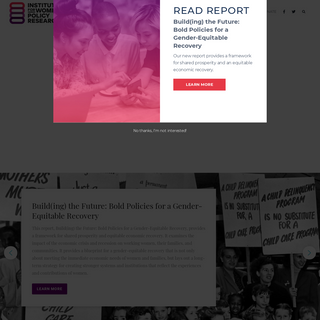 IWPR 2020 – Institute for Women's Policy Research