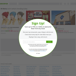 Groupon® Official Site - Online Shopping Deals and Coupons - Save Up to 70- off