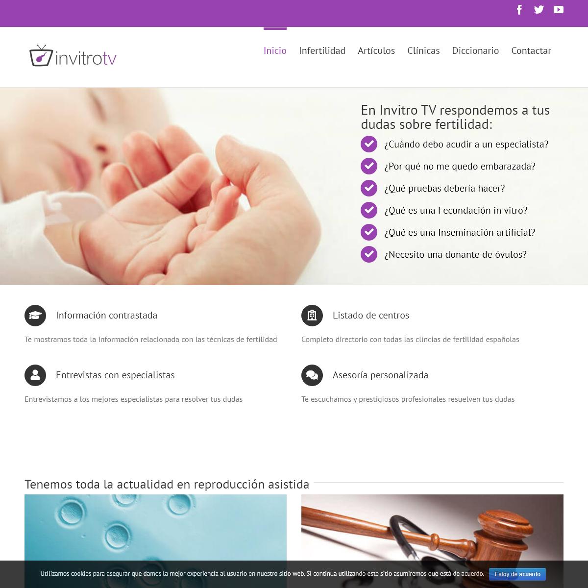 InvitroTV - Mejor asesoramiento sobre Fecundación In Vitro