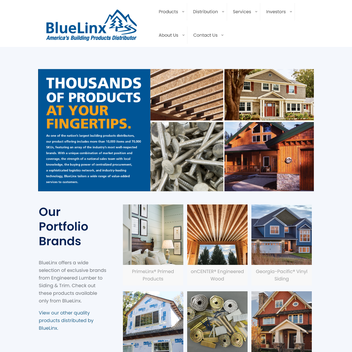BlueLinx - America`s Building Products Distribution