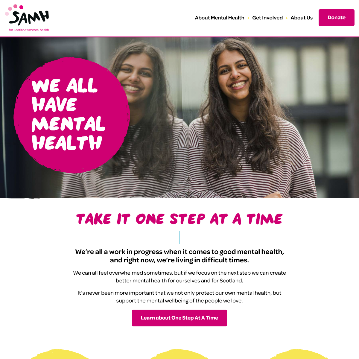 SAMH is the Scottish Association for Mental Health - SAMH