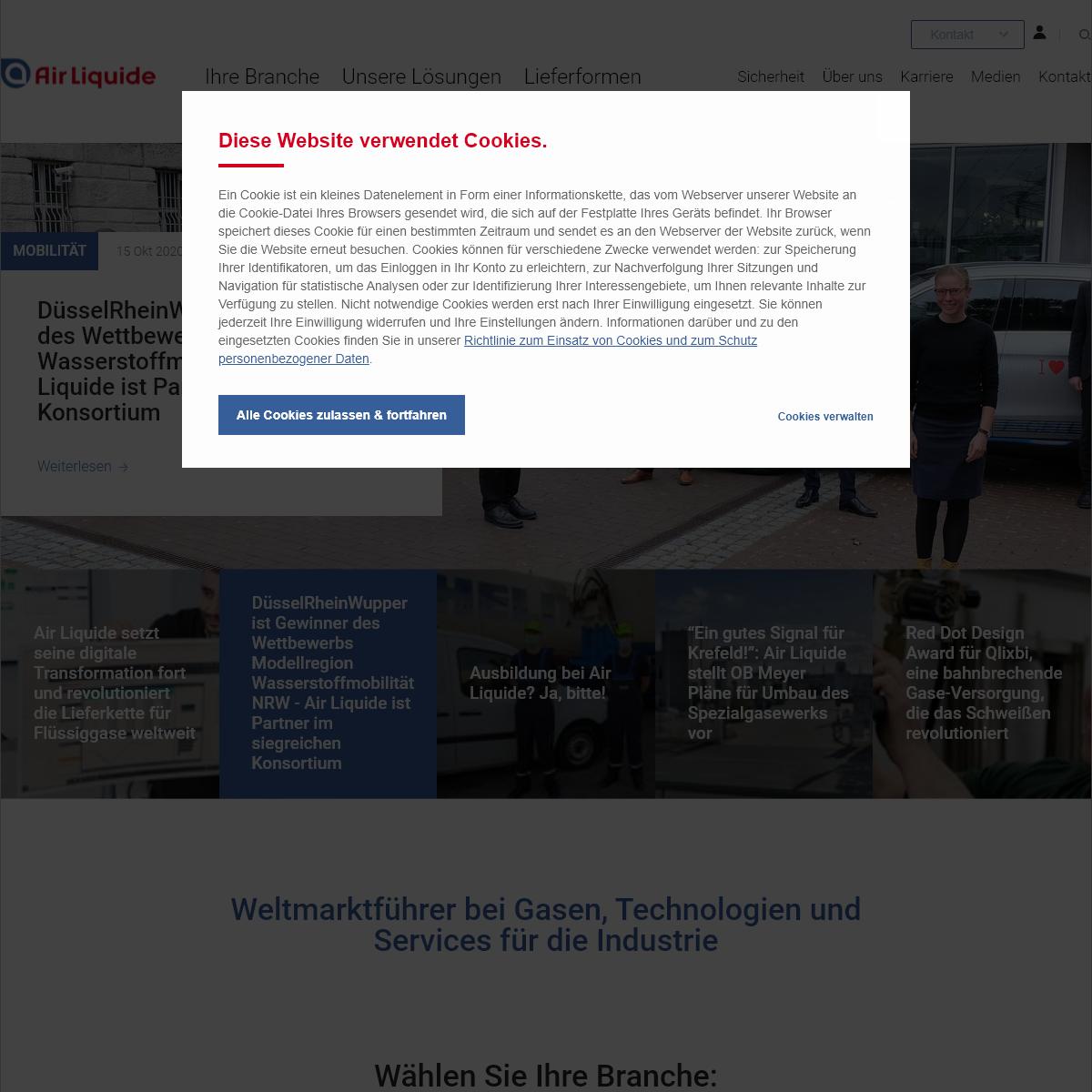 Technische Gase von Air Liquide in Deutschland -