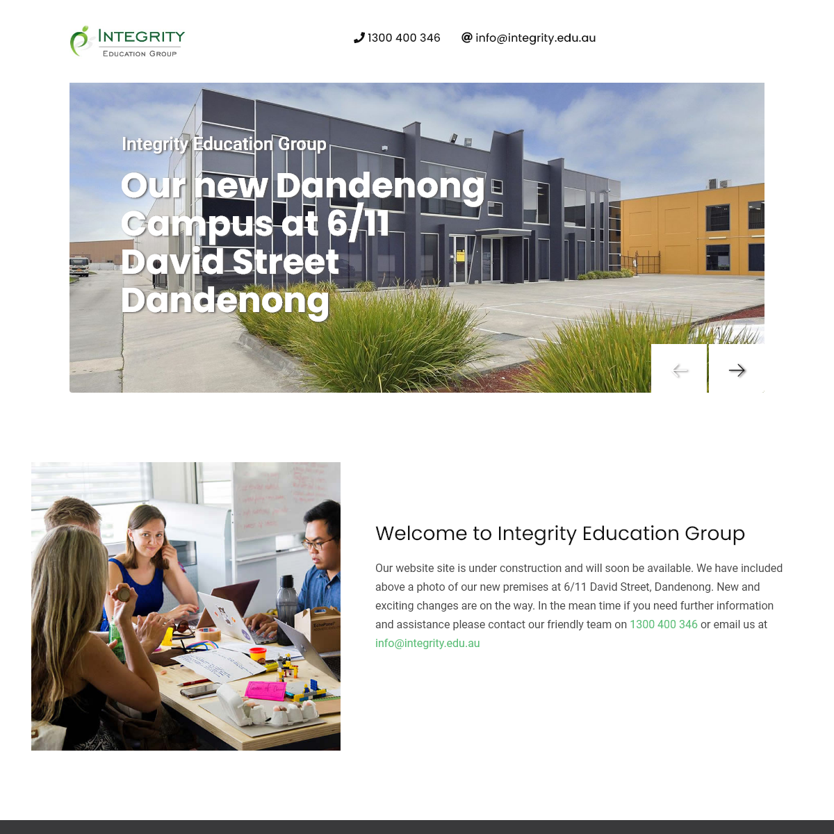 Integrity Education Group - registered training organisation - RTO