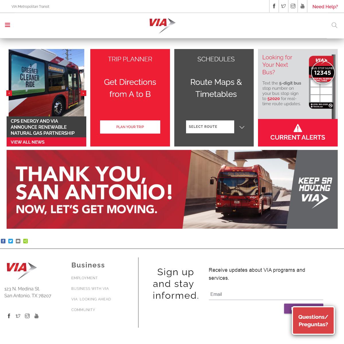 Home - VIA Metropolitan Transit