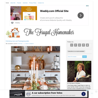 The Frugal Homemaker — Your guide to turning your house into a home… one DIY project and yard sale find at a time