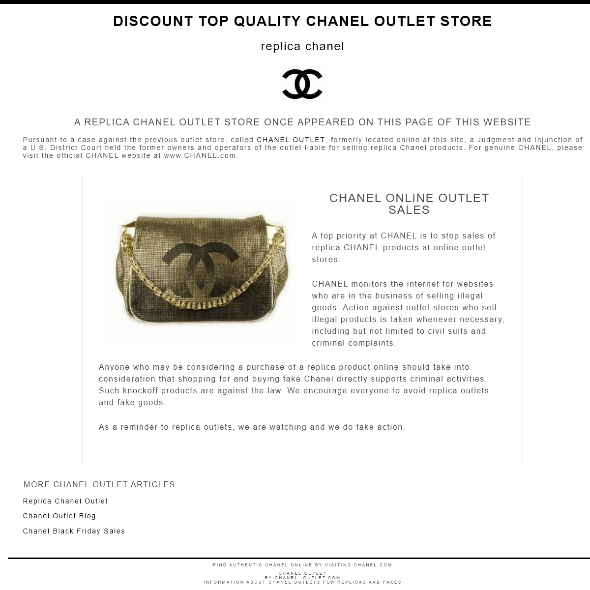 Chanel Outlet - Replica Chanel Outlet Sale - Home