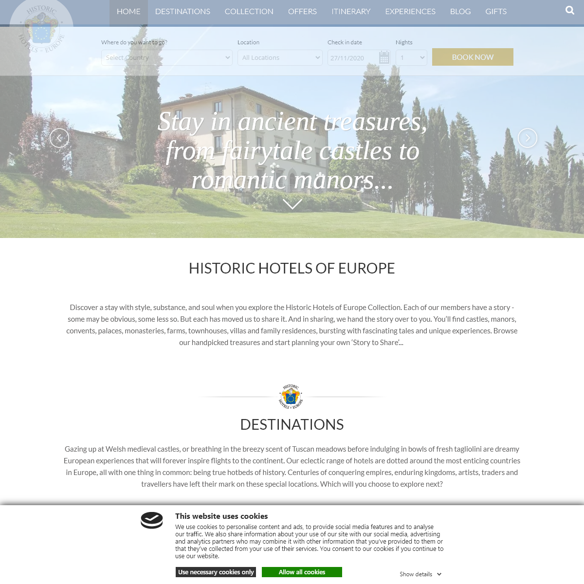 Castle Hotels, Manors, Palaces and Country Houses
