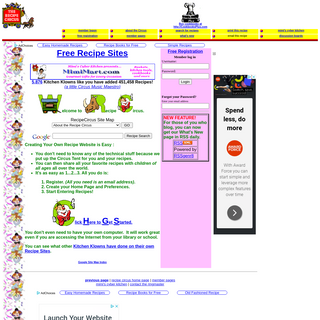 The Recipe Circus - Free Recipe Websites for All Kitchen Klowns
