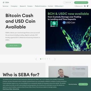 The Bank for the New Economy - SEBA