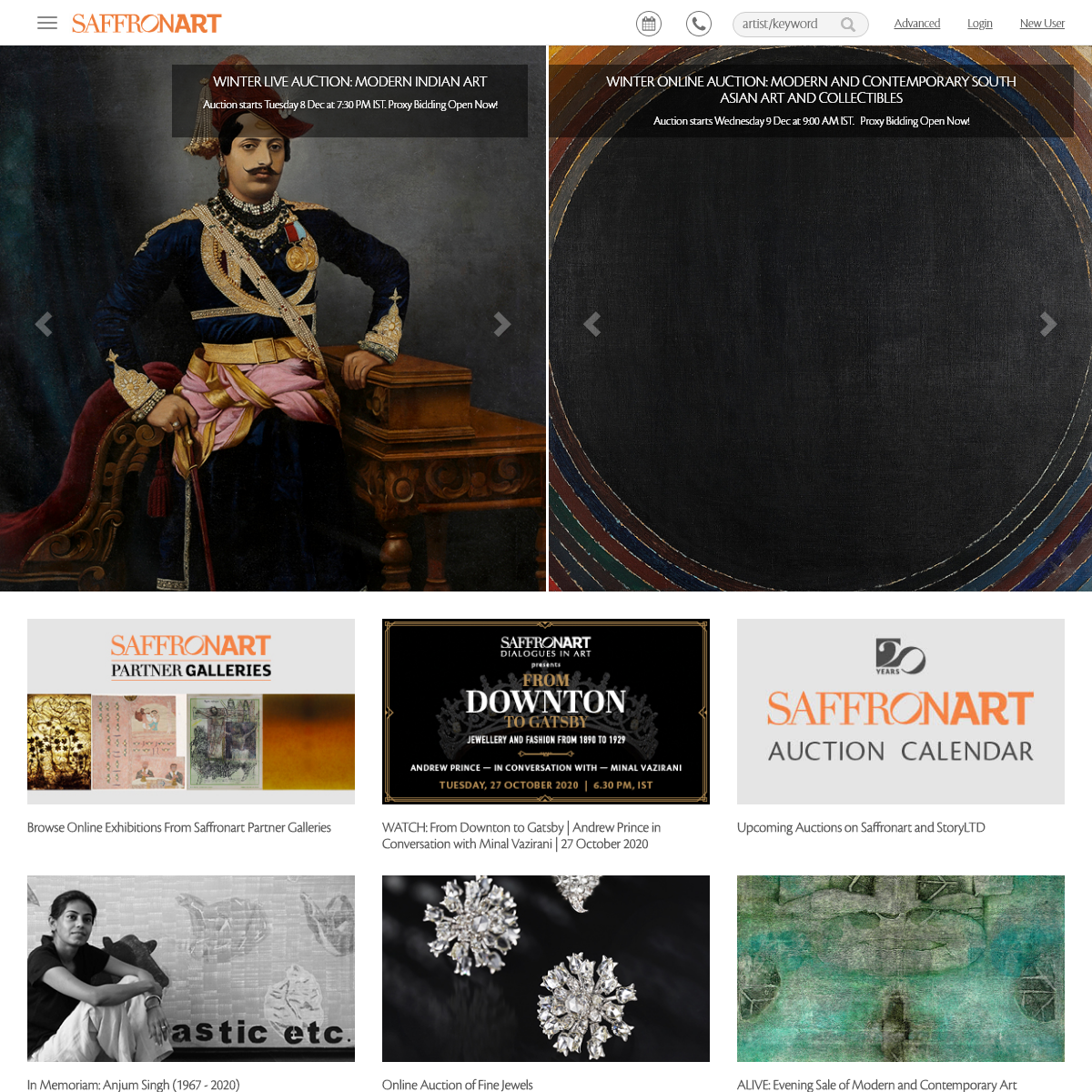 Indian Art- Auction House, Fine Art Auctions - Saffronart.com