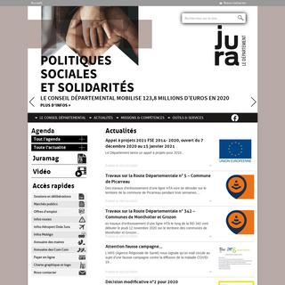 Département du Jura – Site officiel du Conseil départemental du Jura - informations et services pratiques, aides…