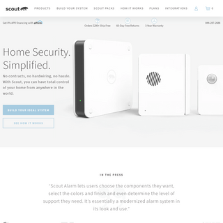 DIY Wifi Home Security Systems - Scout Alarm