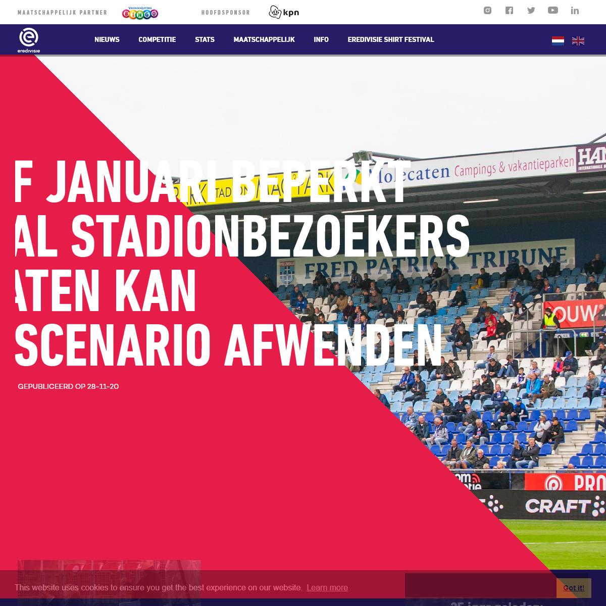 Eredivisie nieuws, live scores en statistieken uit het seizoen 2020-21 - Eredivisie.nl