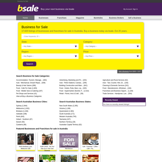 Business for Sale - Franchise Opportunities - BSALE