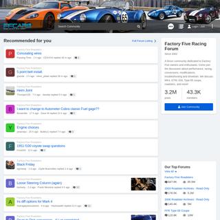 Factory Five Racing Forum