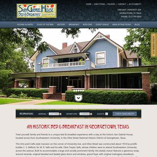 B&B Georgetown Texas - San Gabriel House Bed & Breakfast