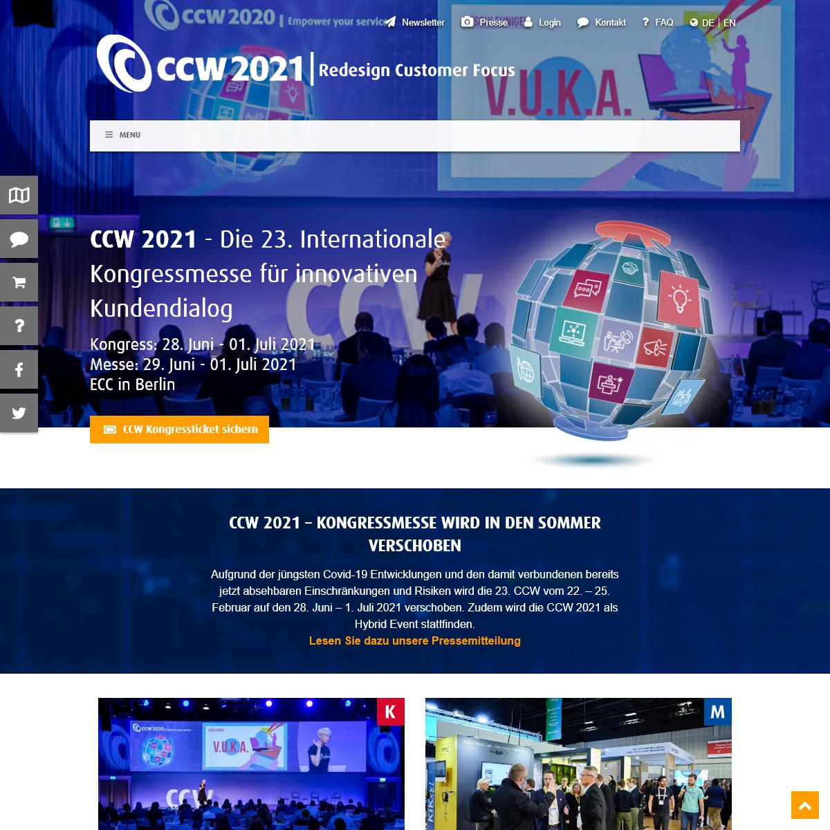 CCW - Die Kundenservice & Call Center Kongressmesse