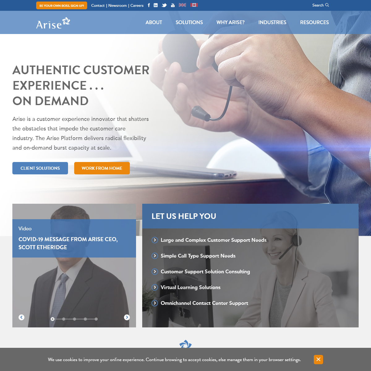 Customer Service Outsourcing Redefined - Arise