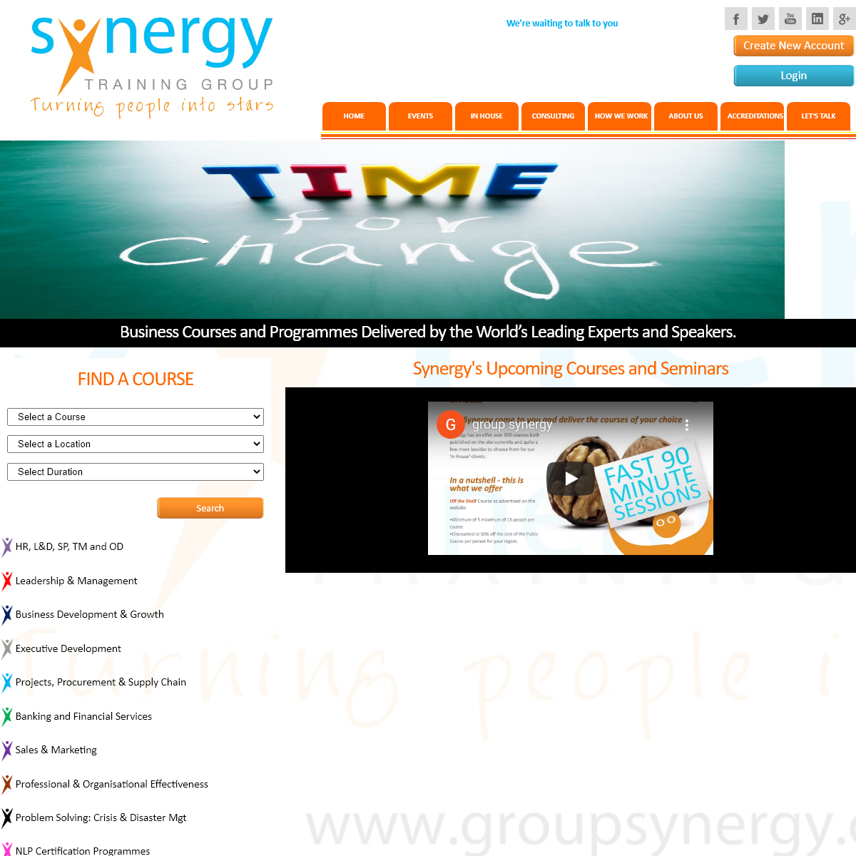 Synergy Training Group - Home
