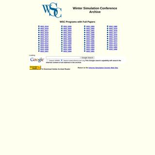 WSC Archive