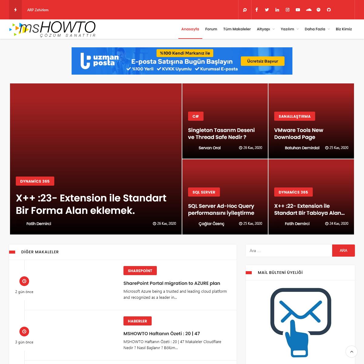 MSHOWTO Topluluğu ve Bilişim Portalı - Makaleler ve Teknoloji ile İlgili Herşey