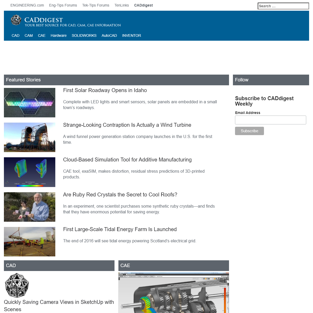 CADdigest - Your best source for CAD, CAM and CAE articles