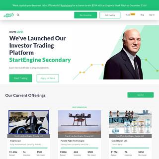 StartEngine- Invest in Startups Online
