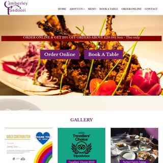 Camberley Tandoori - Restaurant & Indian Takeaway in Camberley
