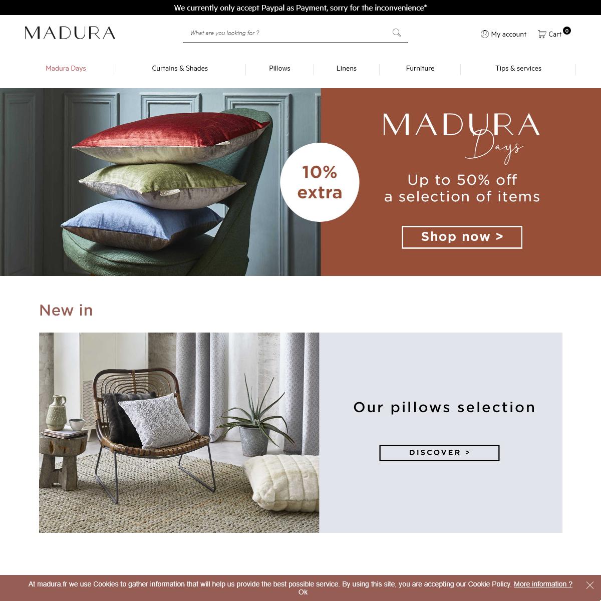 Madura - Curtains, Blinds, Voile curtains, Cushions Madura