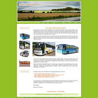 Bharat Travel Service - Luxury Bus, A.c and NonA.c Bus, airprt transfer, coach and bus booking online, Volvo coach rental, Bus B