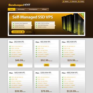 Mass VPS hosting on Enterprise equipment - BandwagonHost VPS