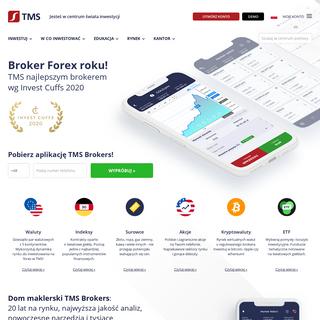 Forex, CFD, Indeksy, Broker - Bezpieczny Dom Maklerski TMS Brokers