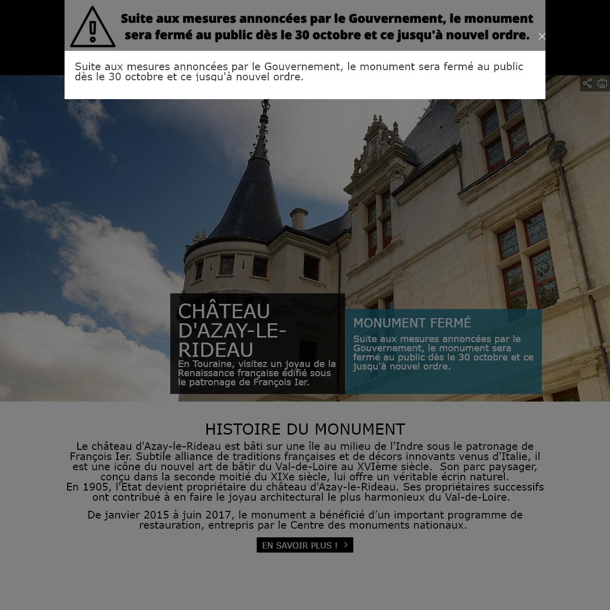 Château d`Azay-le-Rideau