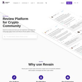 Revain - User Reviews on Blockchain - Review platform