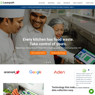 Leanpath Food Waste Prevention Technology and Solutions
