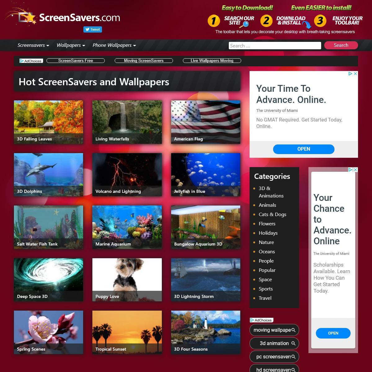 ScreenSavers.com – Free Screensavers