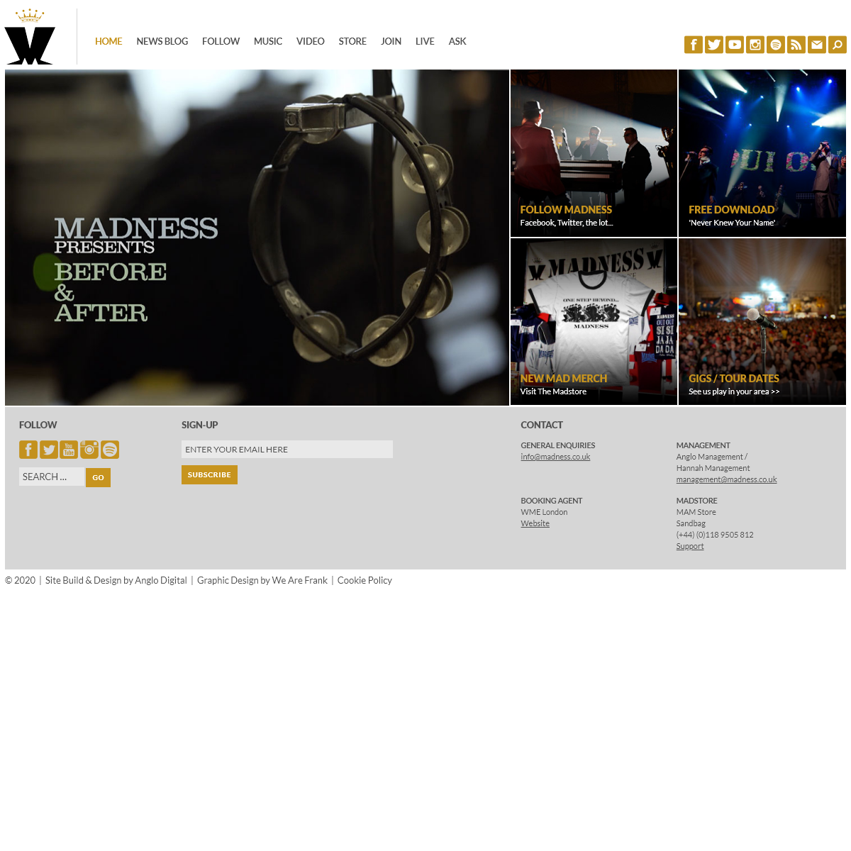 Madness - Official Website