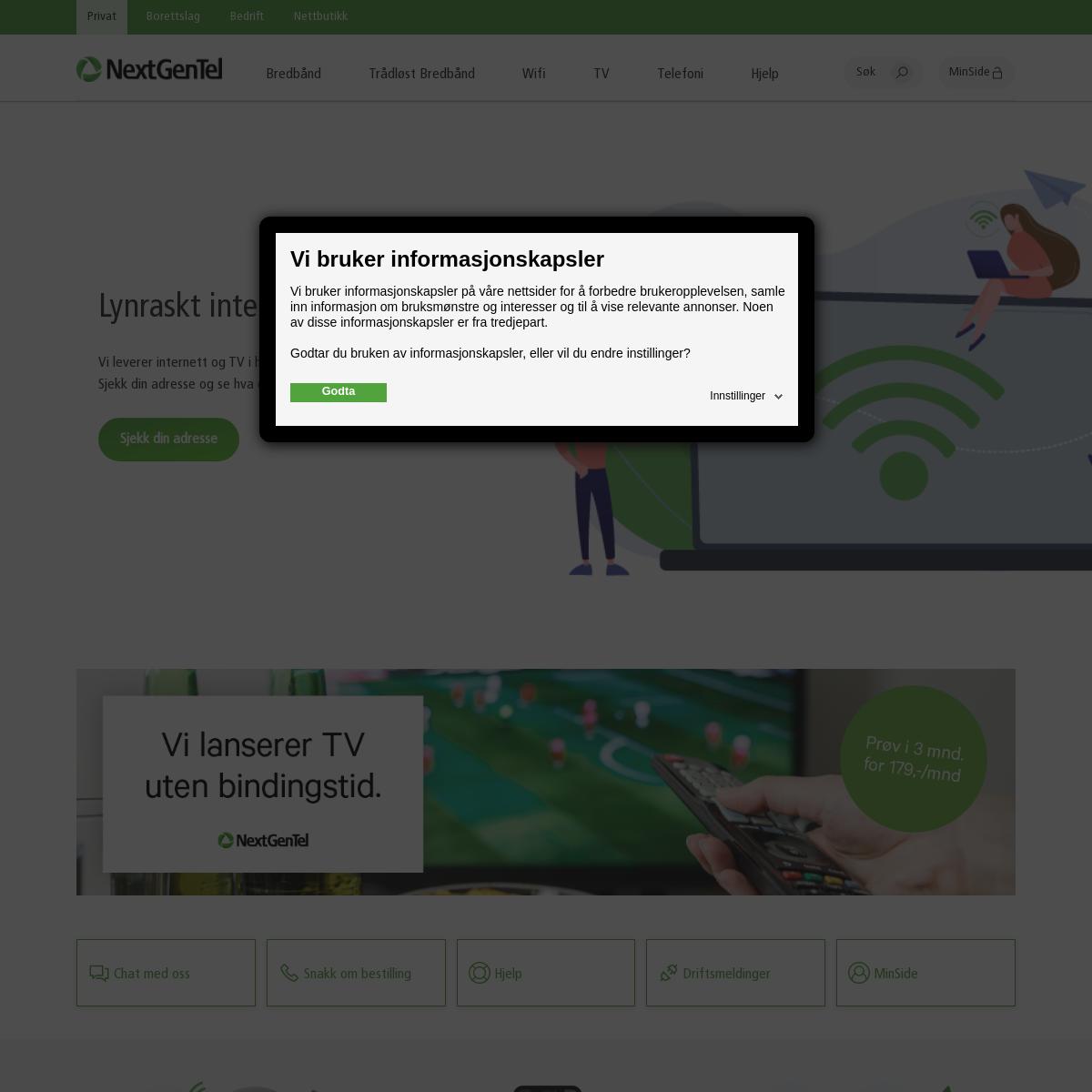 Internett - NextGenTel