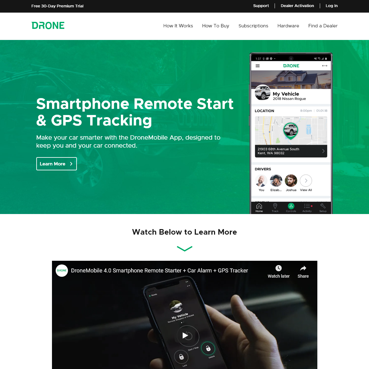 DroneMobile - Smartphone Remote Start, Security, and GPS Tracking