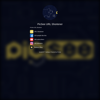 PicSee URL Shortener - SocialVIP™