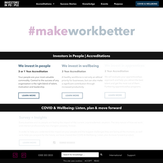 Investors in People - Make Work Better - Accreditation