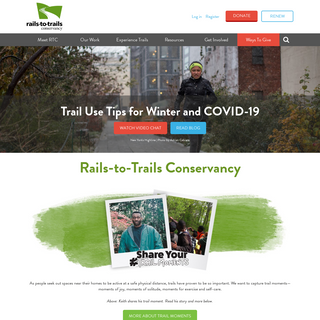 The nation`s largest trails, walking and biking organization - Rails-to-Trails Conservancy