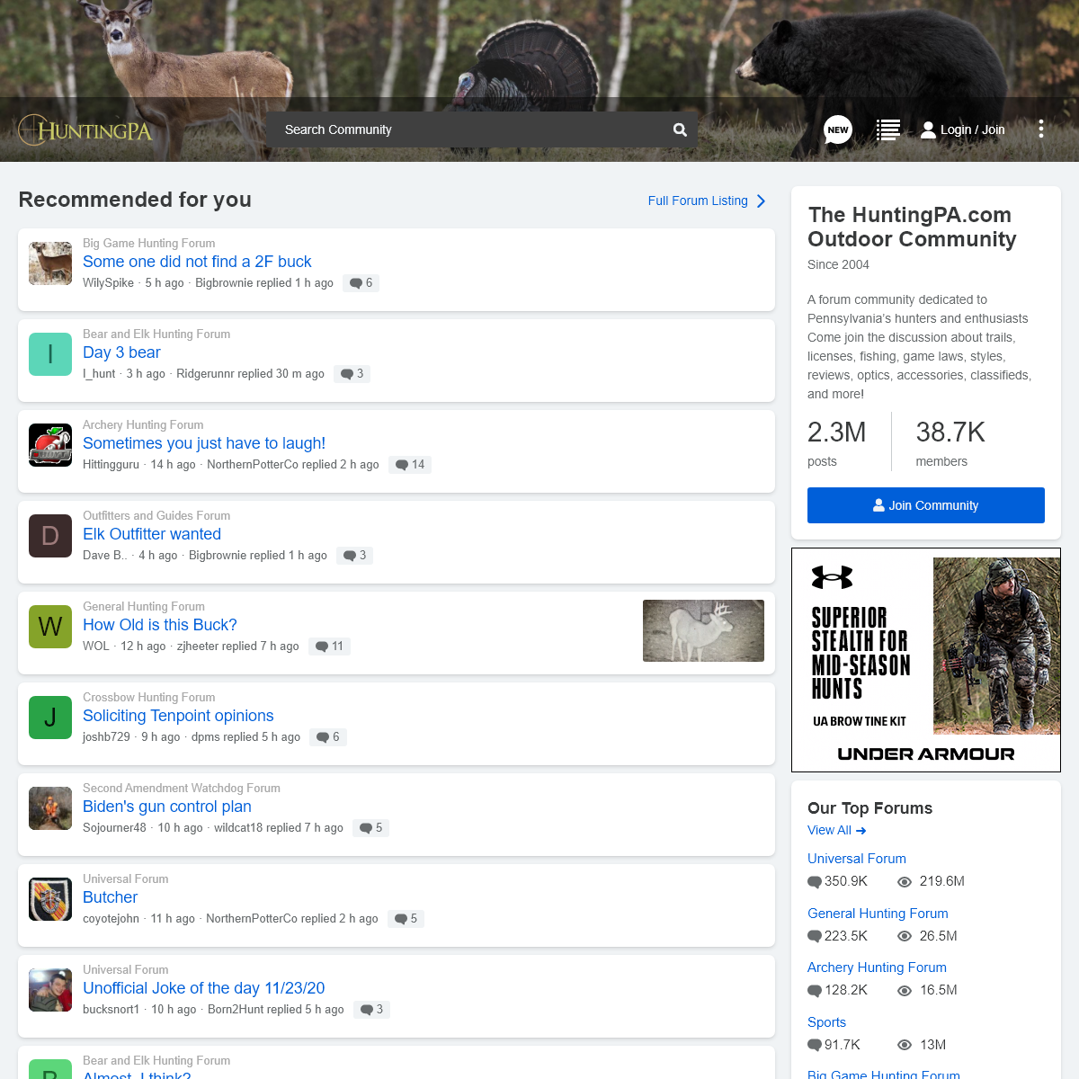 The HuntingPA.com Outdoor Community