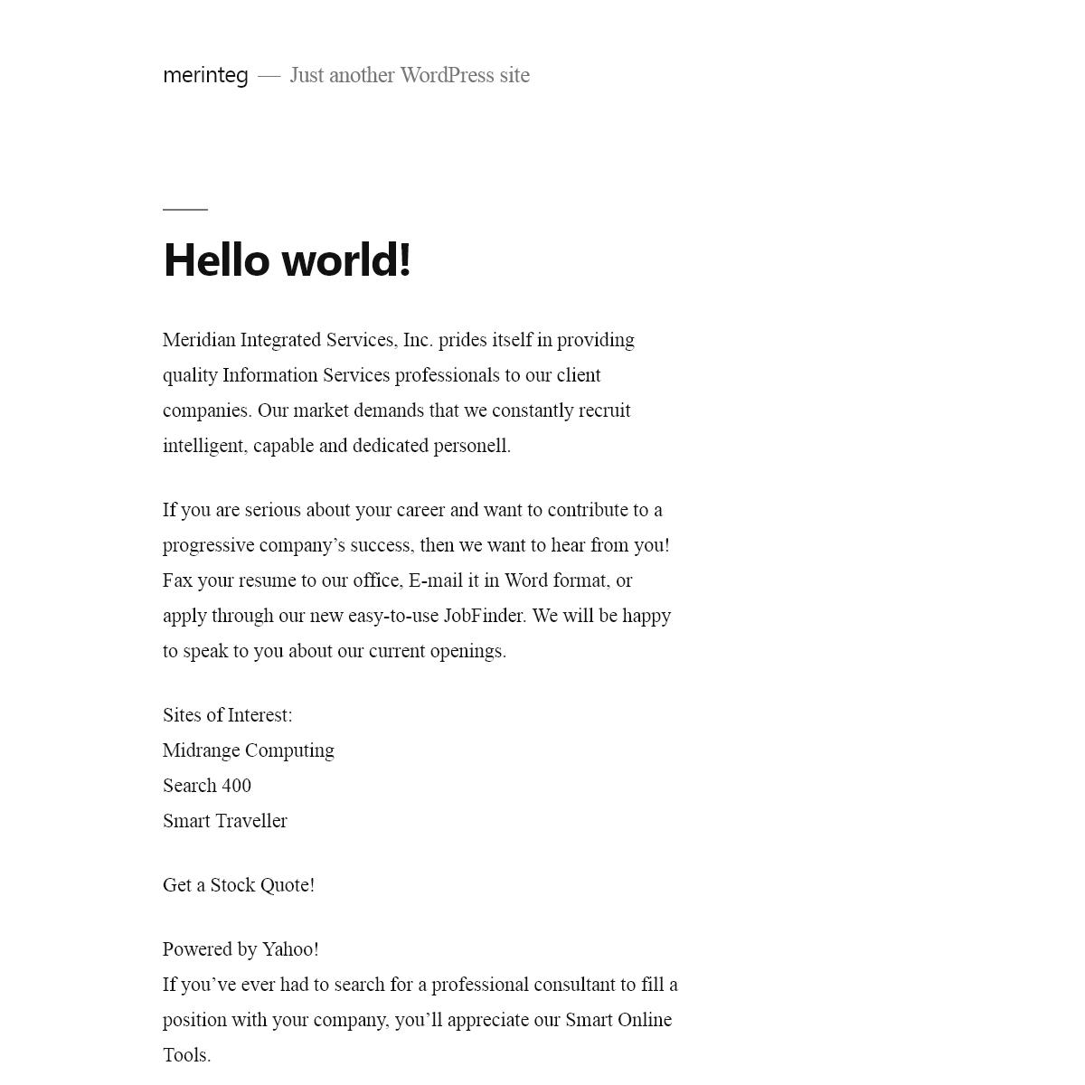 merinteg – Just another WordPress site