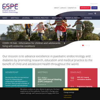 ESPE - European Society for Paediatric Endocrinology - Improving the clinical care of children and adolescents with endocrine co